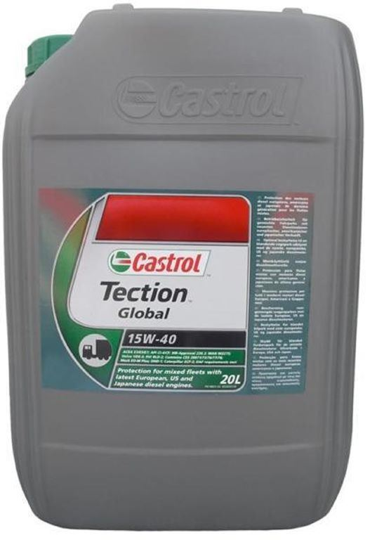 OLEJ CASTROL TECTION GLOBAL/VECTON 15W40 20L E4
